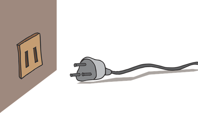 kabel u zásuvky